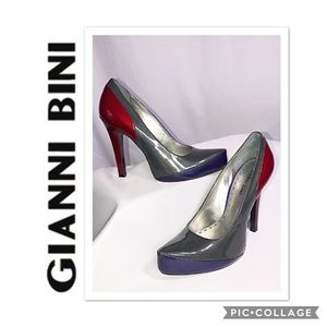 Gianni BINI Techno Leather Pumps